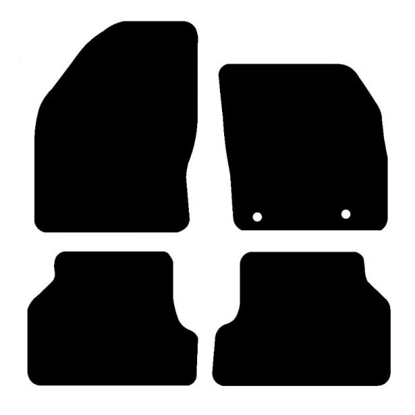Ford Focus (2004-2010) Fully tailored rubber car mat set