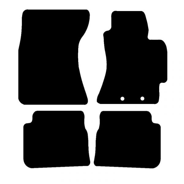 Subaru Forester (2010-2013) Fully tailored rubber car mat set