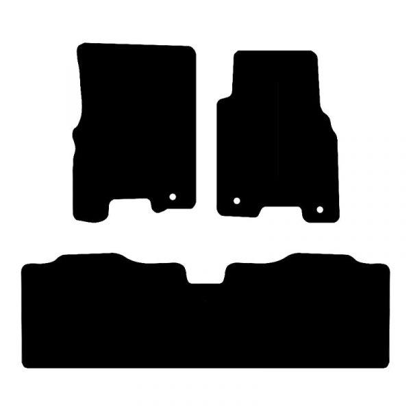Ssangyong Karando (2014-2018) Fully tailored rubber car mat set
